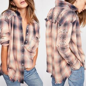 Free people  Take On Me Checked Shirt